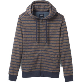 Prana Cardiff Fleece Full Zip Full Zip Jacke Herren nocturnal stripe